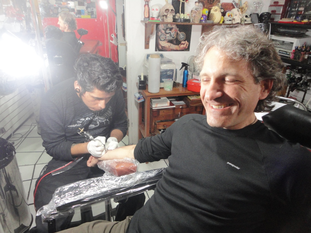 Me at Arte Sagrado, getting ink'd title=